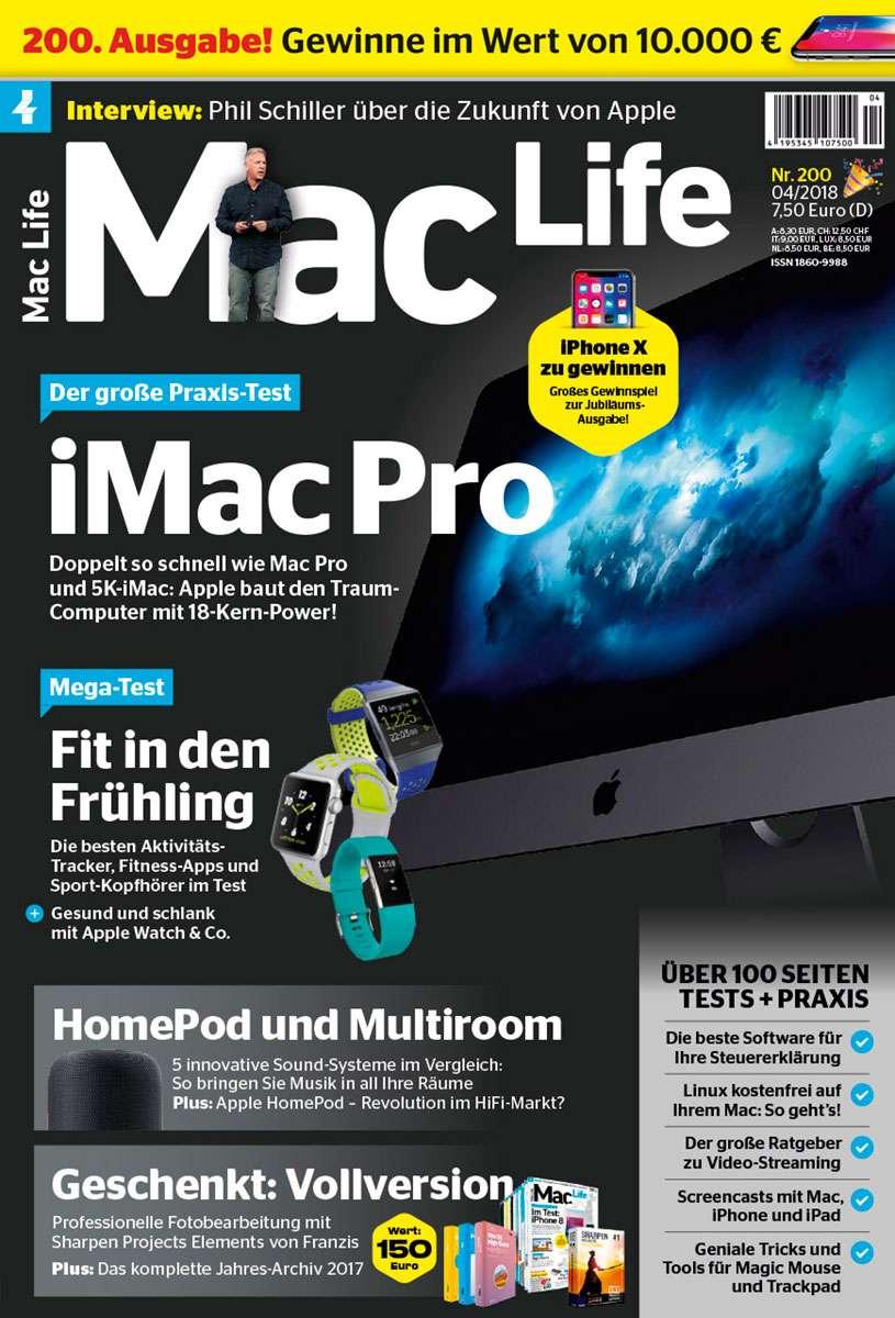 Mac Life 04/2018 → Jetzt bei falkemedia kaufen   falkemedia