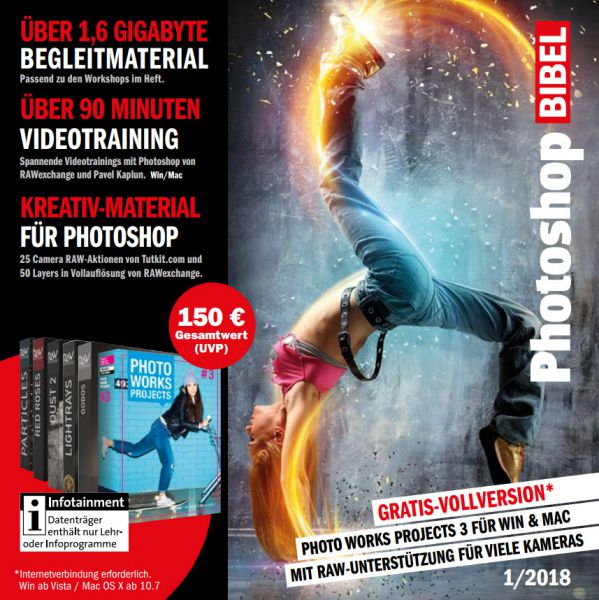Heft-DVD PhotoshopBIBEL 01/2018