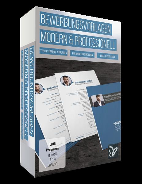 Bewerbungsvorlagen: modern und kreativ und professionell