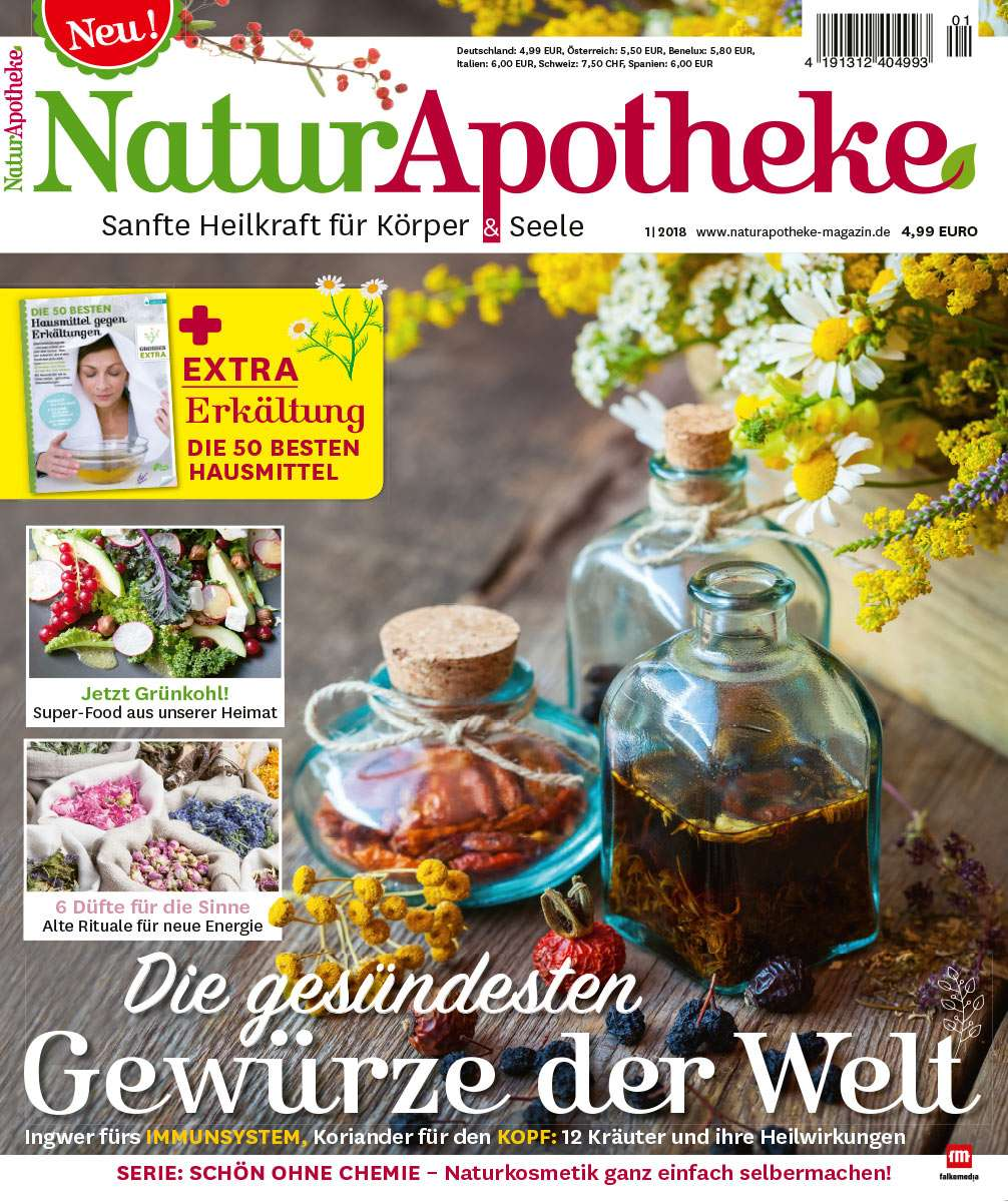 Einfach Selbst Gemacht Zeitschrift naturapotheke 01 2018 jetzt bei falkemedia zum vorteilspreis