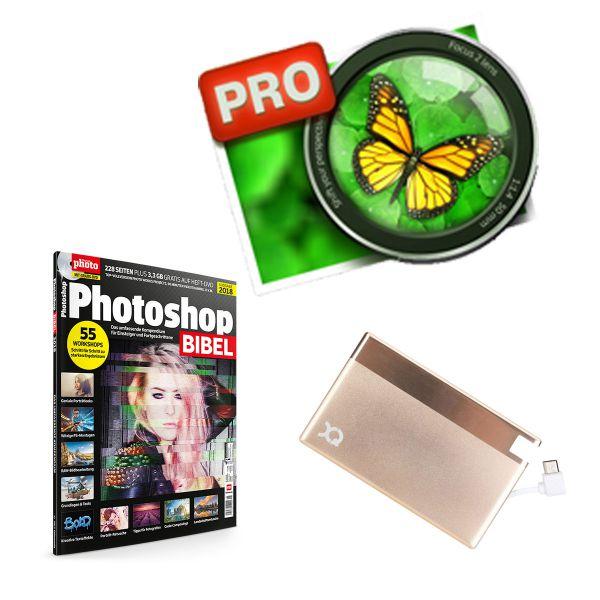 Focus 2 Pro mit PhotoshopBIBEL und PowerBank
