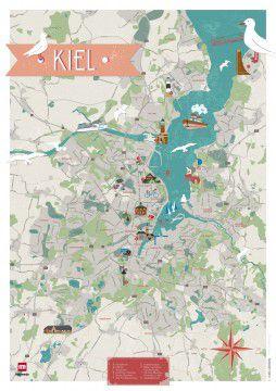 Förde Fräulein Stadtkarte Kiel