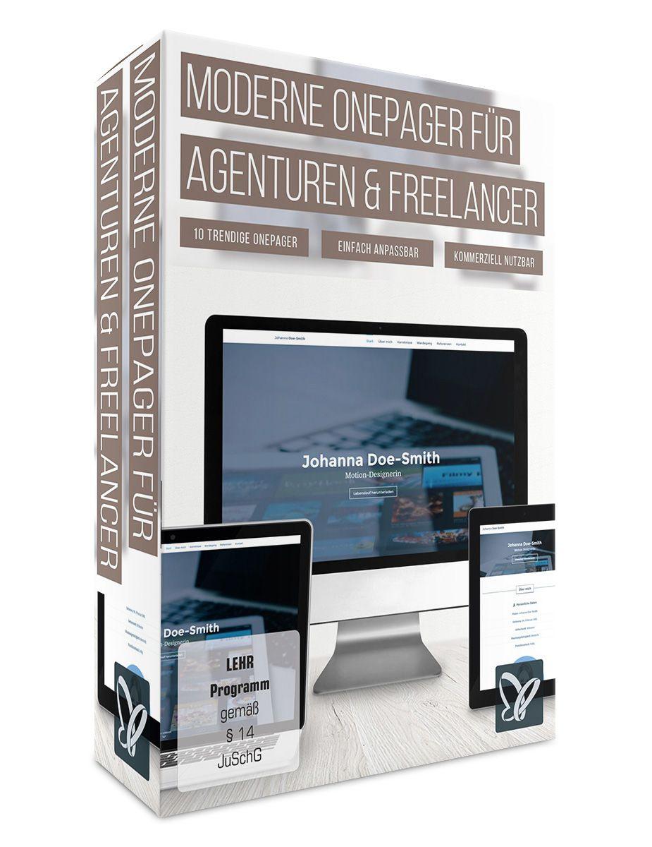Moderne Onepager für Agenturen, Freelancer, Des...