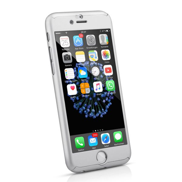 Full Protection Case für iPhone 6 / 6s Silber