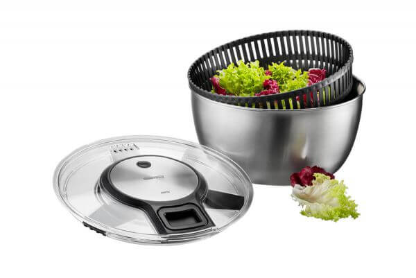 Edelstahl-Salatschleuder