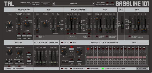 TAL-Bassline-101 - Synthesizer