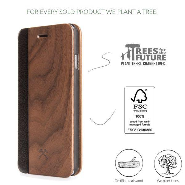 EcoFlip - iPhone Real Wood FlipCase - Donald/ Walnuss