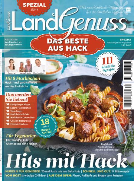 """LandGenuss Spezial 02/2019 - """"Das Beste aus Hack"""" Cover1"""