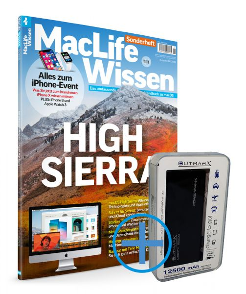 Mac Life Wissen 01/2018 inkl. Outmark PowerBank