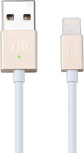 AluCable LED Lightning-Kabel 1m Gold/Weiß
